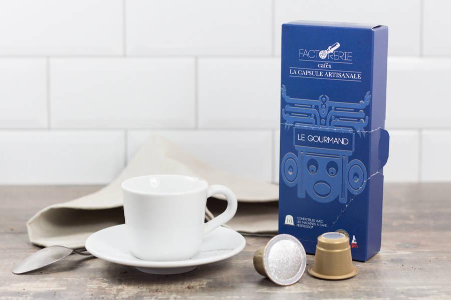 Gourmand capsules - Cafés Factorerie - La Ruche qui dit Oui ! à la maison
