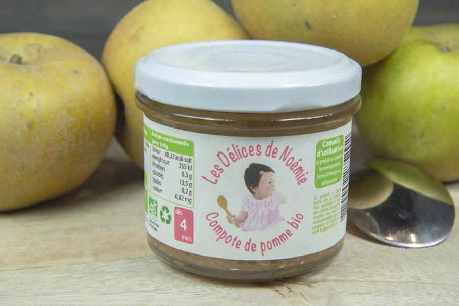 Compote de pomme Bébé BIO - Les Délices de Noémie - La Ruche qui dit Oui ! à la maison