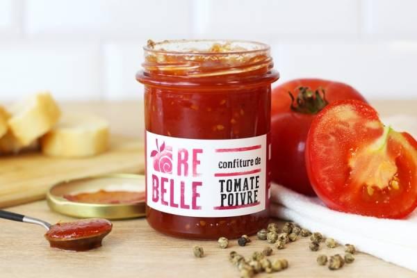 Confiture Tomate et Poivre - Re-Belle