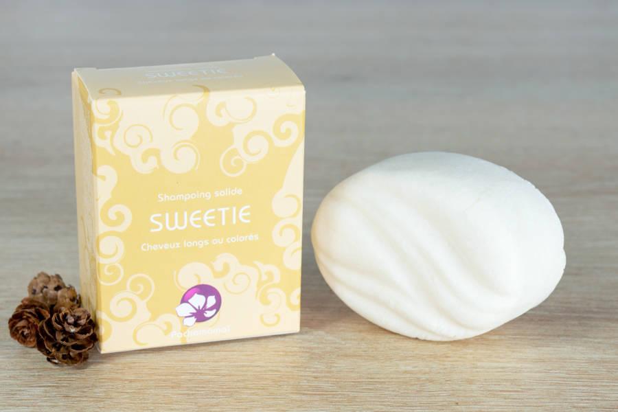 Sweetie - Shampoing démêlant solide (grand format) - Pachamamaï - La Ruche qui dit Oui ! à la maison