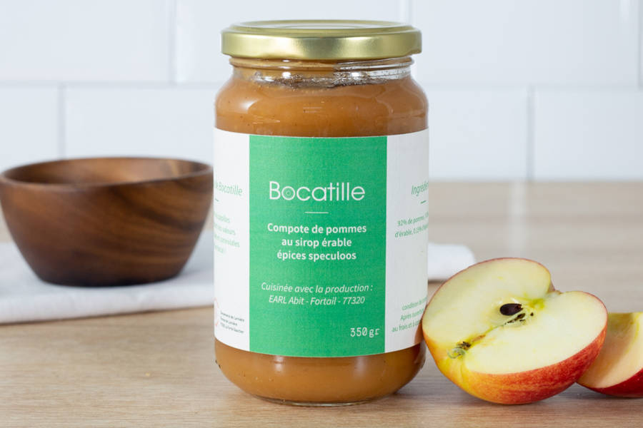 Compote de pomme sirop d'érable et spéculos - Conserverie de Larnière - La Ruche qui dit Oui ! à la maison