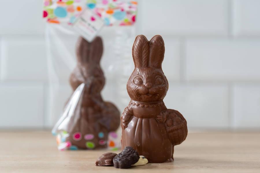 Lapin garni Chocolat au Lait BIO - Coeur de Choc - La Ruche qui dit Oui ! à la maison