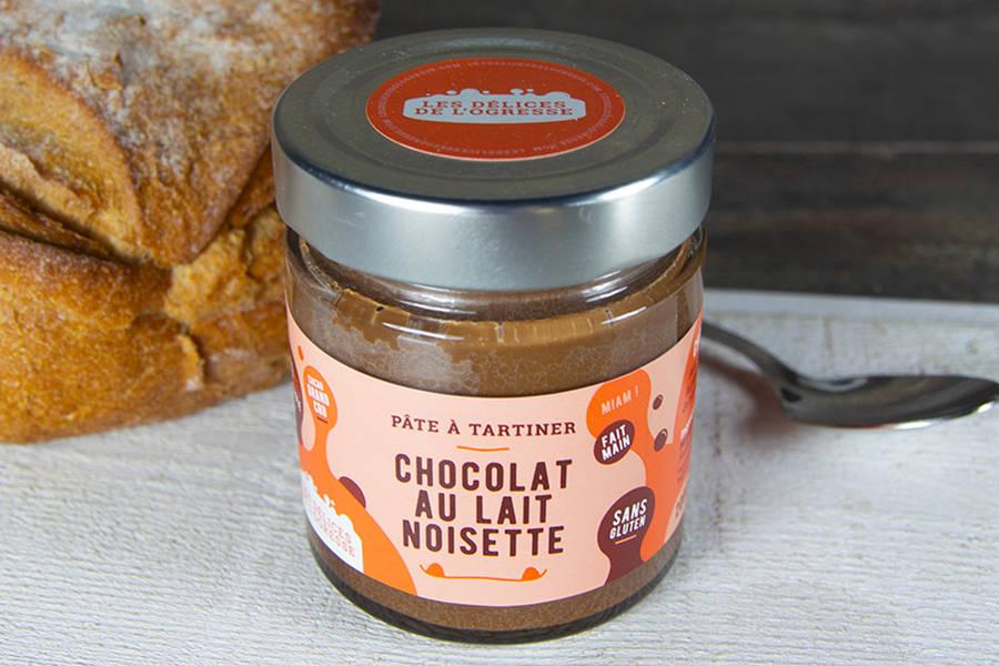 Pâte à tartiner Chocolat au lait - Noisette BIO - Les Délices de l'Ogresse - La Ruche qui dit Oui ! à la maison