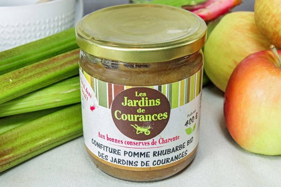 Confiture de pomme rhubarbe BIO - Les jardins de Courances - La Ruche qui dit Oui ! à la maison