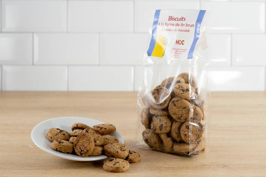 Biscuits farine de lin brun et pépites de chocolat - Huilerie de l'Orme Creux - La Ruche qui dit Oui ! à la maison