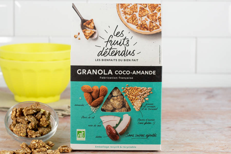 Granola Coco-Amande BIO - Les Fruits Détendus - La Ruche qui dit Oui ! à la maison