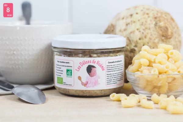 Purée de céleri rave aux petites pâtes et mijoté de boeuf BIO - Les Délices de Noémie