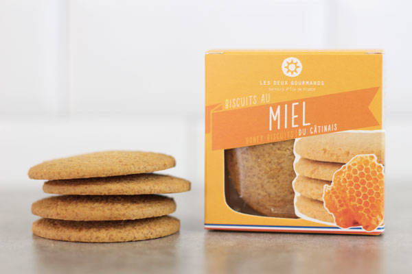 Biscuits au miel du Gâtinais 44g - Les Deux Gourmands