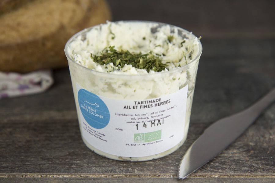 Tartinade ail et fines herbes BIO - Ferme Sainte Colombe - La Ruche qui dit Oui ! à la maison