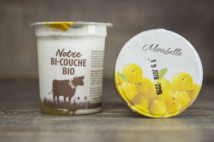 Yaourt bi-couche mirabelle BIO - La Fromentellerie - La Ruche qui dit Oui ! à la maison