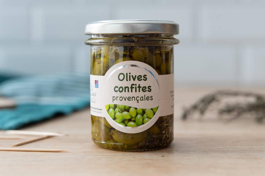 Olives confites provençales - Les amandes du Mont Bouquet - La Ruche qui dit Oui ! à la maison