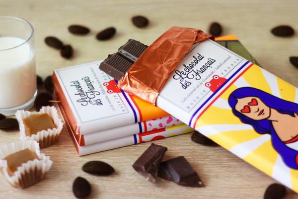 Joconde lait caramel sel de Guérande - Le Chocolat des Français - Le Comptoir Local