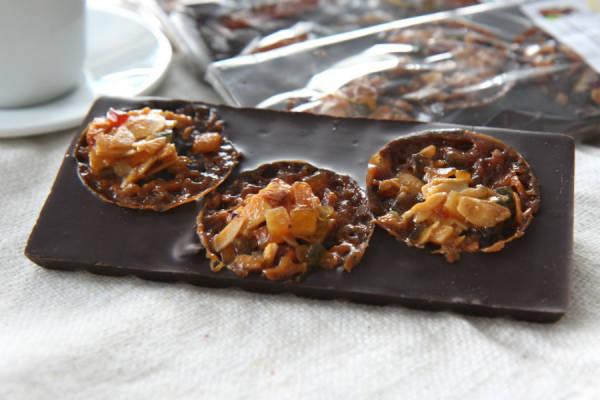 Tablette florentins chocolat noir - Le Furet Tanrade - Le Comptoir Local