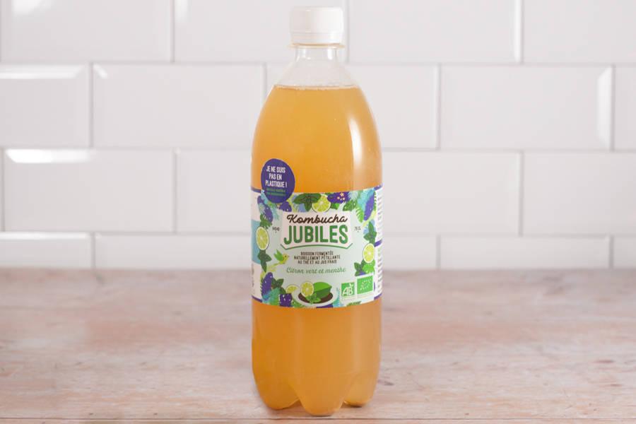 Kombucha thé noir, citron vert, menthe BIO - 75 cl - Jubiles - La Ruche qui dit Oui ! à la maison