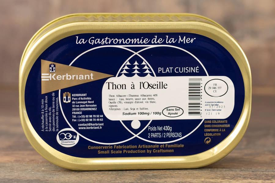 """Plat cuisiné """"Thon à l'Oseille"""" - Conserverie artisanale Kerbriant - La Ruche qui dit Oui ! à la maison"""
