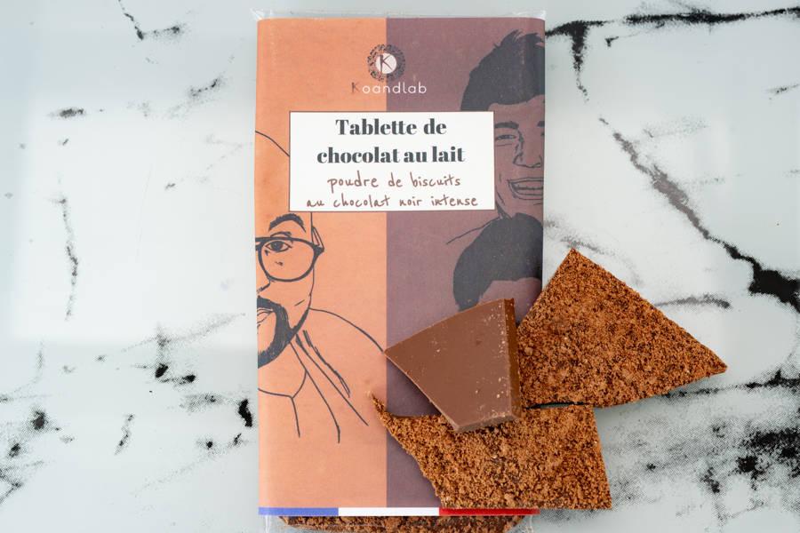 Tablette de chocolat au lait 40%, éclats de biscuits noir intense - KoandLab - La Ruche qui dit Oui ! à la maison