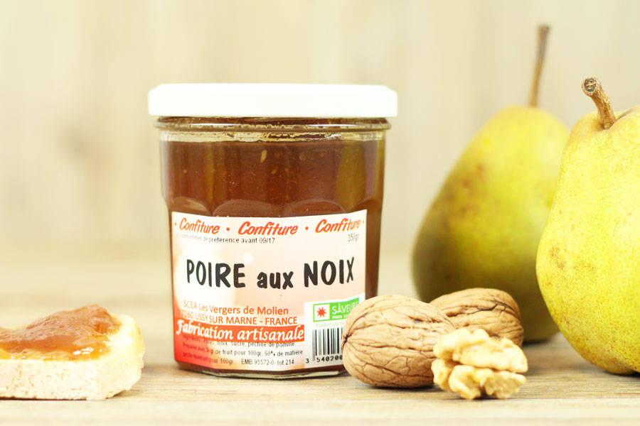 Confiture de poire aux noix - Vergers de Molien - La Ruche qui dit Oui ! à la maison