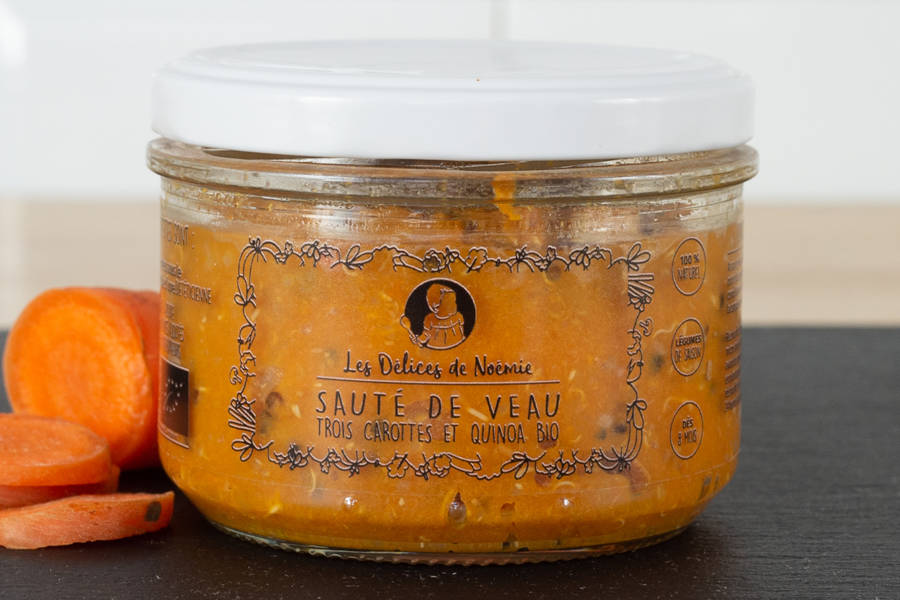 Sauté de veau trois carottes et quinoa BIO - Les Délices de Noémie - La Ruche qui dit Oui ! à la maison