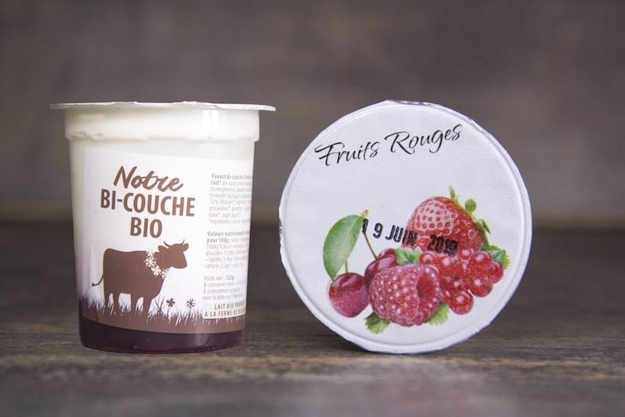 Yaourt bi-couche fruits rouges BIO - La Fromentellerie - La Ruche qui dit Oui ! à la maison