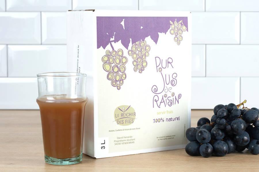 Jus de raisin 3L - Le rocher des fées - La Ruche qui dit Oui ! à la maison