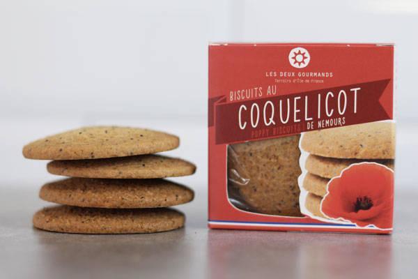 Biscuits au coquelicot de Nemours 44g - Les Deux Gourmands