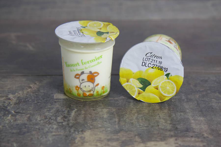 Yaourt Citron - Ferme de Courcelles - La Ruche qui dit Oui ! à la maison