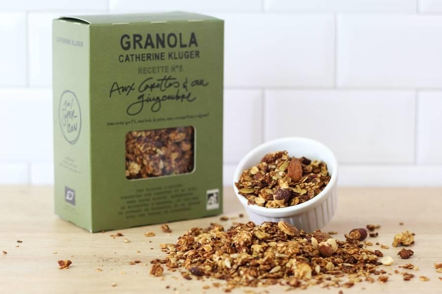 Granola Carottes et Gingembre BIO - Catherine Kluger Granola - La Ruche qui dit Oui ! à la maison