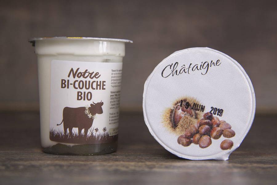 Yaourt bi-couche marron BIO - La Fromentellerie - La Ruche qui dit Oui ! à la maison