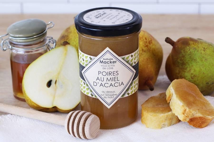 Poires au miel d'acacia - Au dessus, sur l'étagère du haut - La Ruche qui dit Oui ! à la maison