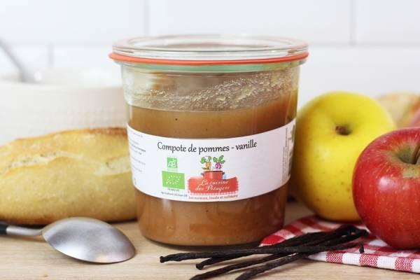 Compote de pommes-vanille BIO - Conserverie coopérative de Marcoussis