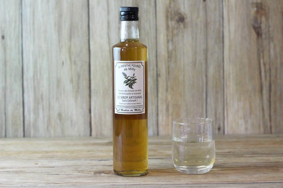 Sirop artisanal à la menthe poivrée de Milly BIO - L'Herbier de Milly - La Ruche qui dit Oui ! à la maison