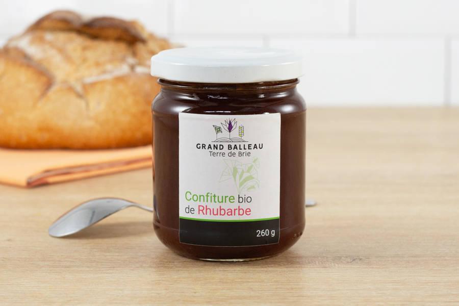 Confiture de rhubarbe BIO - Grand Balleau Terre de Brie - La Ruche qui dit Oui ! à la maison