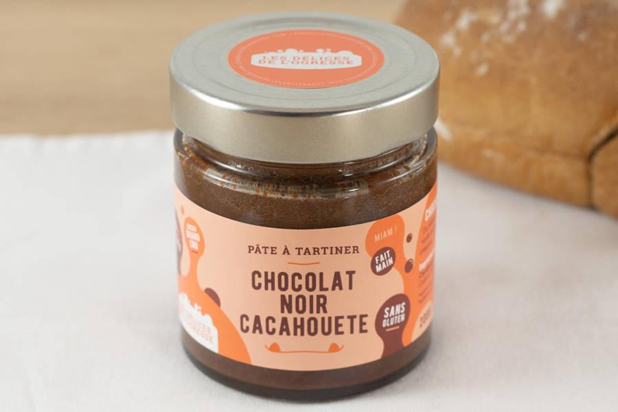 Pâte à tartiner Chocolat noir - Cacahuète BIO - Les Délices de l'Ogresse - La Ruche qui dit Oui ! à la maison