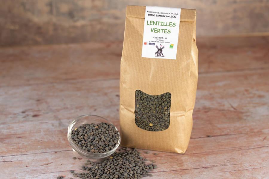 Lentilles vertes 1 kg - La Grange à grains - La Ruche qui dit Oui ! à la maison