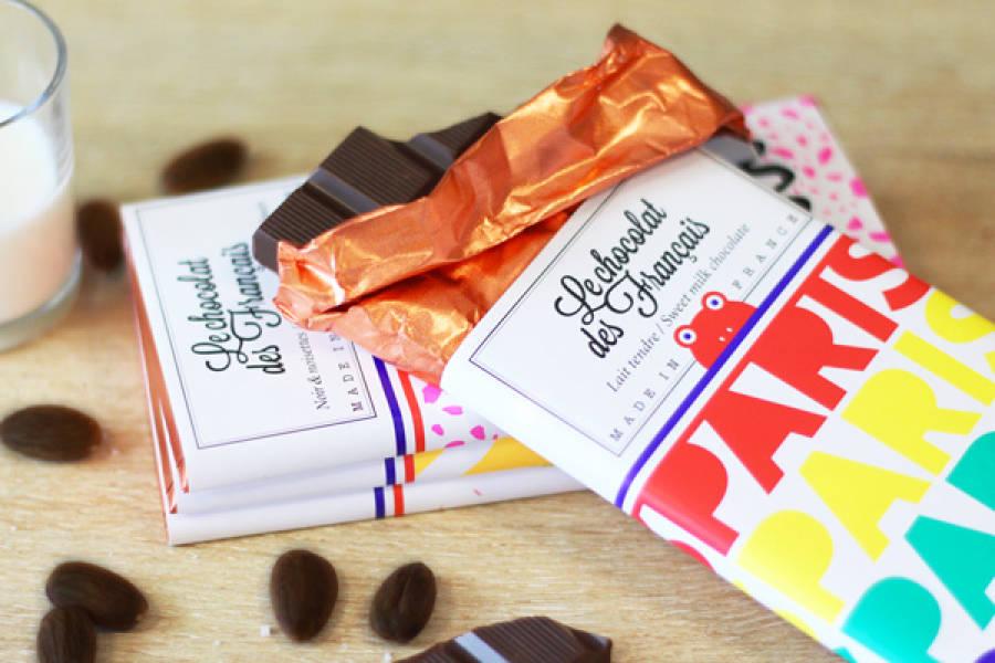 Chocolat lait tendre - Paris arc-en-ciel BIO - Le Chocolat des Français - La Ruche qui dit Oui ! à la maison