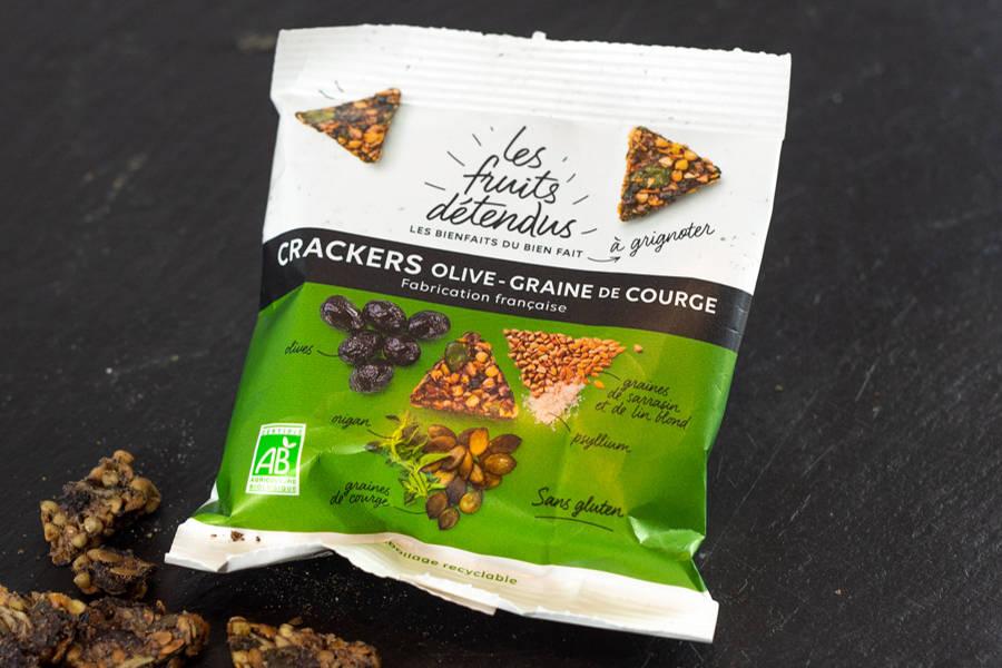 Crackers Olive-Graine de courge BIO - Les Fruits Détendus - La Ruche qui dit Oui ! à la maison