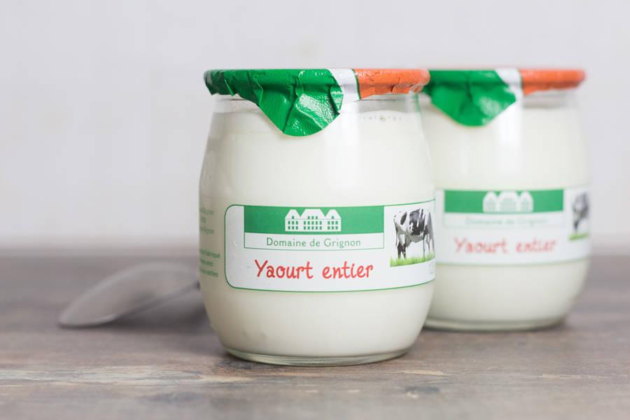 Yaourt nature au lait entier - Médaillé - Ferme de Grignon - La Ruche qui dit Oui ! à la maison