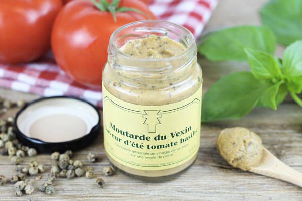 Moutarde du Vexin Saveur d'été tomate basilic - Ferme de la Distillerie