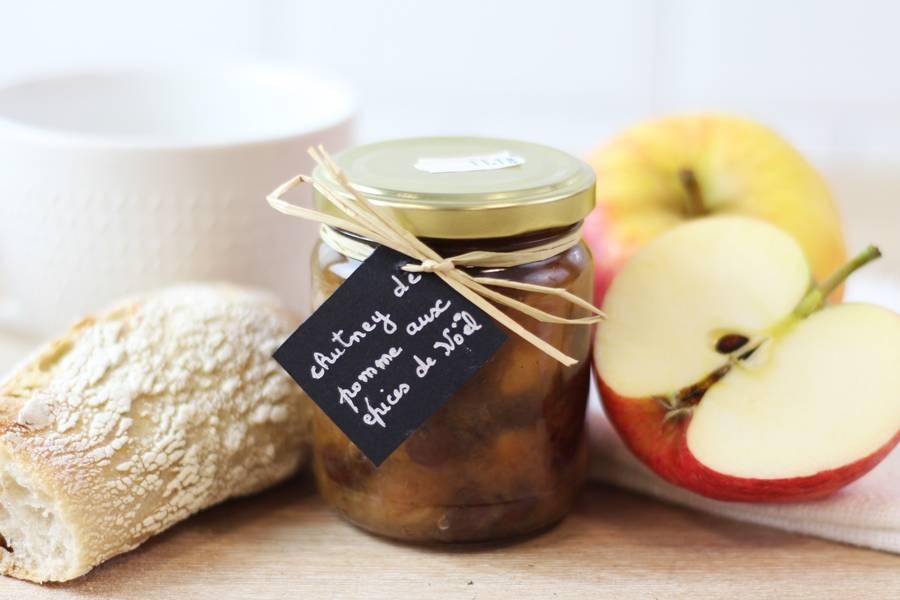 Chutney de pomme aux épices de Noël - La Fée dans les Bois
