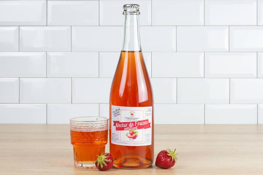 Pétillant de fraise - Les Fruits Rouges de mon Jardin - La Ruche qui dit Oui ! à la maison