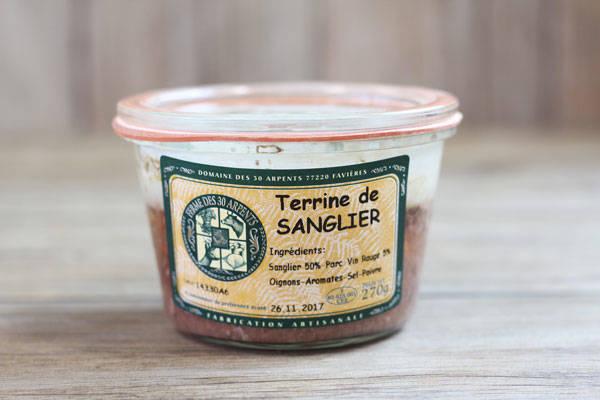 Terrine de Sanglier - Domaine des 30 Arpents