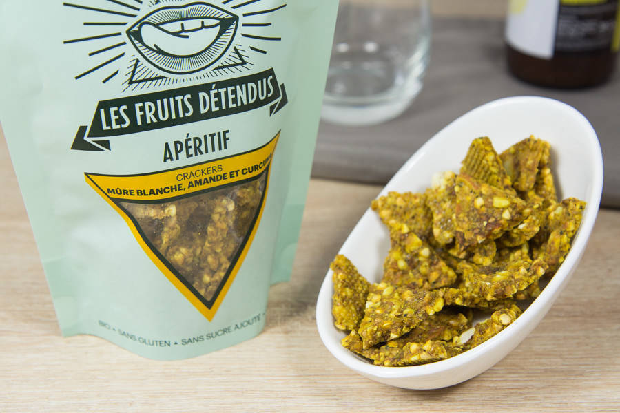 Crackers Mûres Blanches Amandes BIO - Les Fruits Détendus - La Ruche qui dit Oui ! à la maison