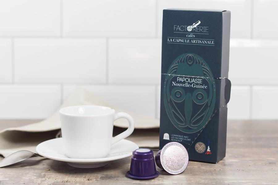 Papouasie capsules - Cafés Factorerie - La Ruche qui dit Oui ! à la maison