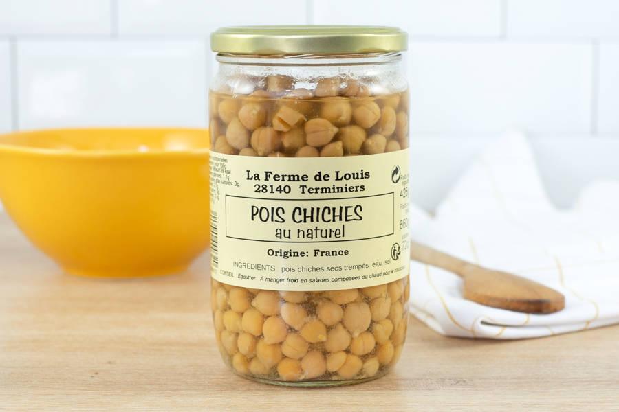 Grand bocal de pois chiches - Ferme de Louis - La Ruche qui dit Oui ! à la maison