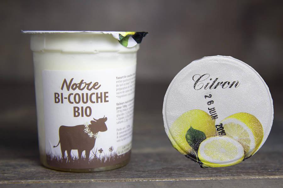 Yaourt bi-couche citron BIO - La Fromentellerie - La Ruche qui dit Oui ! à la maison
