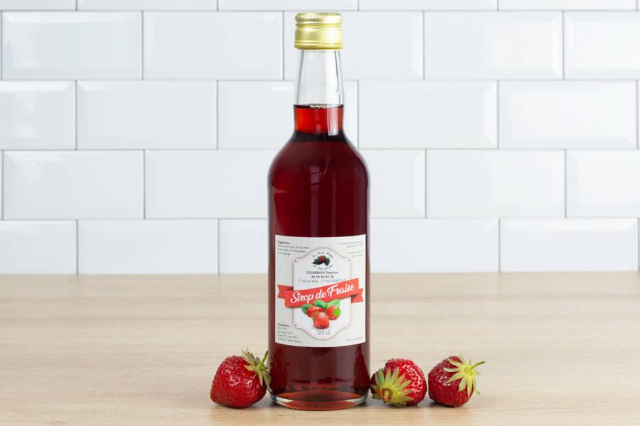 Sirop de fraise - Les Fruits Rouges de mon Jardin - La Ruche qui dit Oui ! à la maison