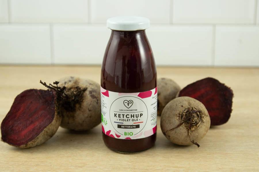 Ketchup Betterave BIO - Les 3 Chouettes - La Ruche qui dit Oui ! à la maison
