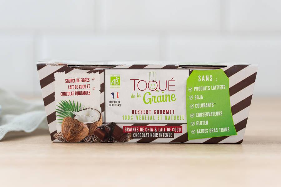 Dessert onctueux 100% végétal CHOCOLAT BIO x2 - Toqué de la Graine - La Ruche qui dit Oui ! à la maison