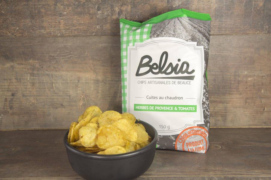 Chips artisanales aux herbes de Provence & tomates - Belsia - Ferme de Létourville - La Ruche qui dit Oui ! à la maison