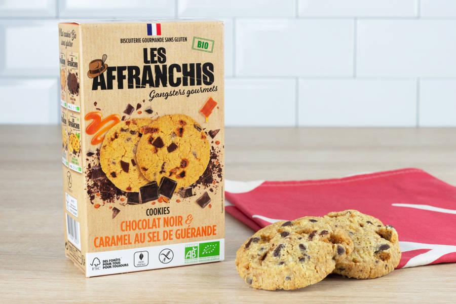 Cookies sans gluten chocolat noir et caramel au sel de Guérande BIO - Les Affranchis - La Ruche qui dit Oui ! à la maison